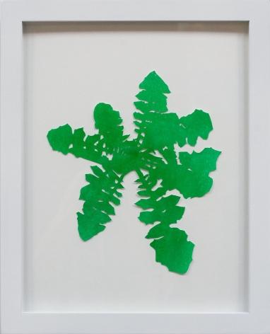Hannah Cole  Dandelion #4, 2018  watercolor on cut paper  Framed: 14h x 11w in 35.56h x 27.94w cm  HC_052