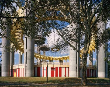 "Jade Doskow  New York 1964 World's fair, ""Peace Through Understanding,"" New York State Pavilion (Fresh Paint), 2017  Archival Pigment Print  40h x 50w in, Photographs, Fine Art, Contemporary Art, Asheville"