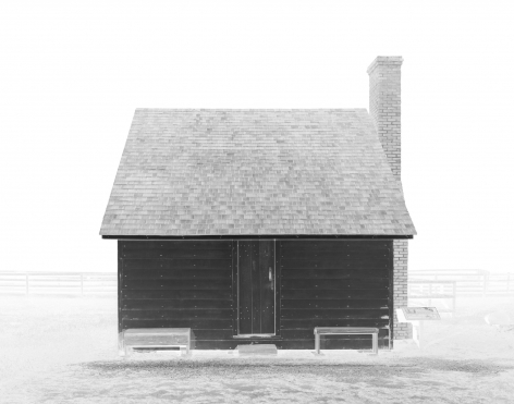 Slave Dwelling (Somerset Place), 2019-20  Archival Pigment Print  11 x 14 inches  Edition of 5, solarized image of a former slave dwelling on a former plantation