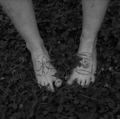 Rob Amberg, Natasha's Feet, Paw Paw, Madison County, NC, 2013,  Archival Pigment Print, 5h x 5w in (image size), Edition of 10, Photography, Photography Gallery