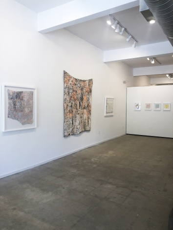 Installation view (from right: Tell Tale, 2019, History Repeating, 2019, Worden, 2019, Seed, 2019, Chip, 2019, Interstice, 2019, Bit, 2019)