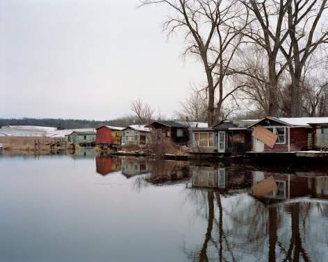 Furgary Shacks, Hudson, New York, Winter 2016