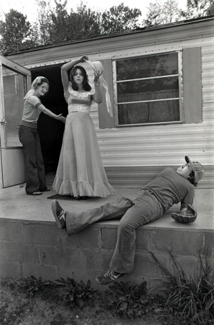Rob Amberg   Vicky Ray, her Mother, Zenobia, and Donny Norton, on Vicky's Prom Night, 1977  Archival Pigment Print  11h x 17w in  Edition of 10, photography