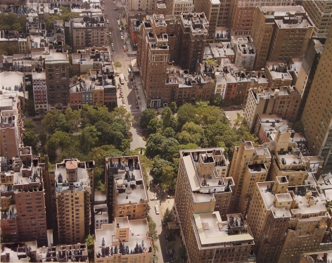 Nicholas Hall  New York #2 (Gramercy Park), 2012  Paper cut-out with collage  10 3/4h x 13 3/4w in, Unique, Work on paper