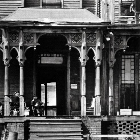 Walker Evans, Boarding House Porch, Birmingham, Alabama, 1936, Gelatin silver print, Single print of 100 prints made, Photography