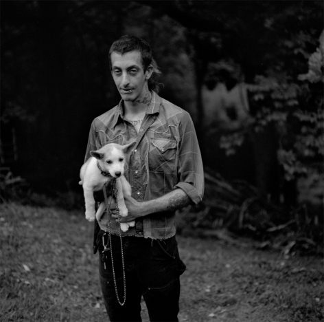 Rob Amberg, Shu and Fiver, Paw Paw, Madison County, NC, 2014,  Archival Pigment Print, 5h x 5w in, Edition of 10, Photography