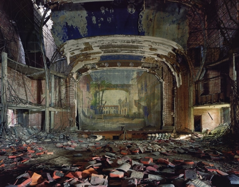 Andrew Moore, Palace Theater, Gary, Indiana, 2008, Archival Pigment Print, 30h x 40w in, 76.20h x 101.60w cm, Photography