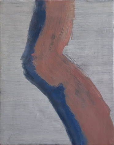 An Hoang, Untitled (bend), 2015, Oil on canvas, 10h x 8w, painting