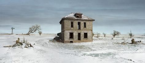 Andrew Moore, The Murray House, Sears Roebuck Rockfaced Wizard No. 52, Sheridan County, Nebraska, 2013, Archival pigment print