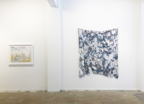 Installation view (from right: Aftermath, 2019, Bloom, 2019)