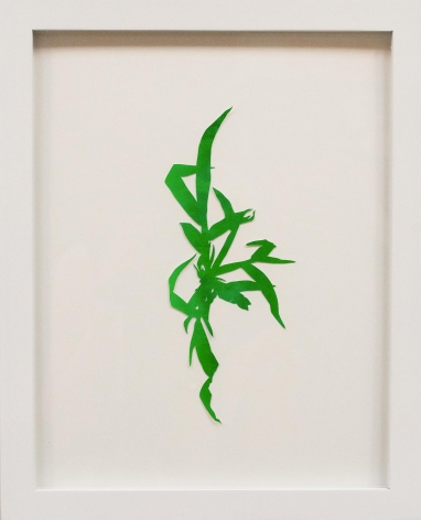 Hannah Cole  Crabgrass #7, 2018  watercolor on cut paper  Framed: 14h x 11w in 35.56h x 27.94w cm  HC_043