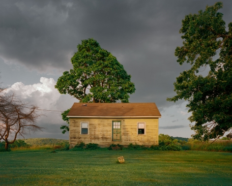 Tema Stauffer  Yellow House, Wire Road, Germantown, New York, 2016, 2016  Archival Pigment Print  24h x 30w in, Edition of 8  30h x 36w, Edition of 8  42h x 50.5w, Edition of 3   TS_005