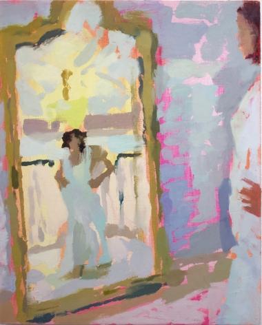 Rachel Rickert, Making Myself Smaller (III), 2019   Oil on panel  10 x 8 inches