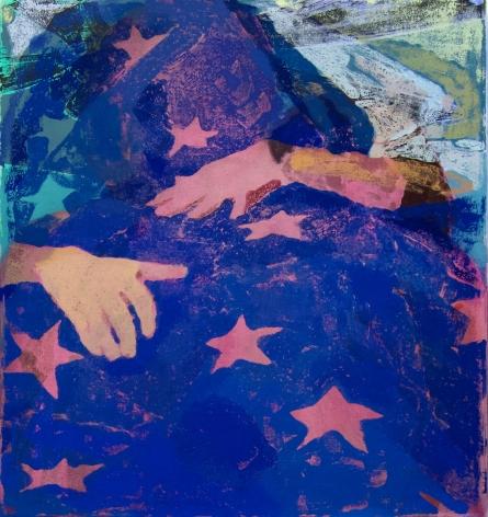 Rachel Rickert, Under the Stars, 2020   Oil on canvas  24 x 22 inches