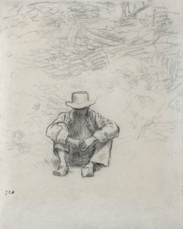 Jean François Millet, Seated Peasant,c. 1850