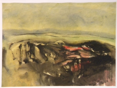 Fulvio Testa, Untitled 17, 2011    Watercolor on paper 10 1/2 x 15 1/8 inches