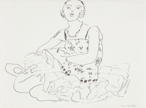 Henri Matisse  Seated Ballerina, c. 1925  Pen and ink on paper 8 1/8 x 11 1/8 inches