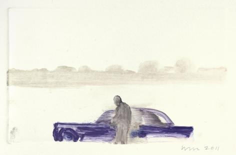 Wendy Mark, At the Lake/Kentridge, 2011  Monotype  5 3/8 × 8 ¾ inches