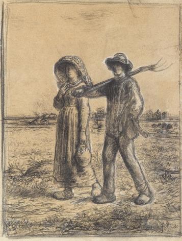 Jean-Francois Millet, Le Départ pour Les Champs, 1863