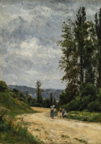 STANISLAS LEPINE French, 1835-1892 . Country Road (Route de Compagne), c. 1876-80     Oil on canvas