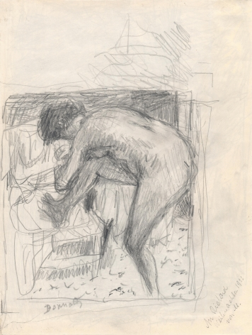 Pierre Bonnard, Nude at the Bath Verso: Landscape, c. 1924