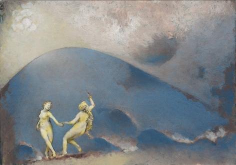 Lino Mannocci, La Danse, 2012    Oil on postcard 4 x 5 3/4 inches
