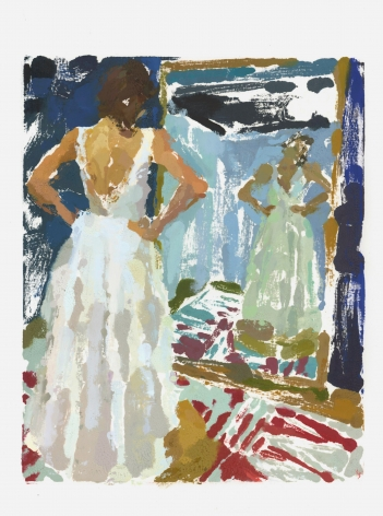 Rachel Rickert, Bride IV, 2019   Oil on paper 12 x 9 inches