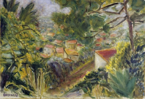 Pierre Bonnard, Le Cannet, 1941,  Oil on canvas, 14 1/8 × 20½ inches