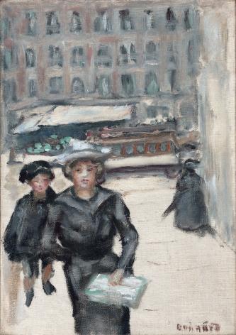 Pierre Bonnard The Little Street or Boulevard des Batignolles, c. 1903  Oil on canvas 12 1⁄8 × 8 ½ inches