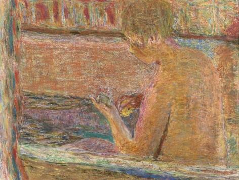 Pierre Bonnard La Baignoire, 1942      Gouache, pastel and colored crayon on paper 19 3/4 x 25 5/8 inches