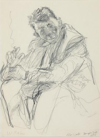 Wolf Kahn, John Ciardi, Poet, Hampton Institute, 1956    Pencil  12 x 9 inches