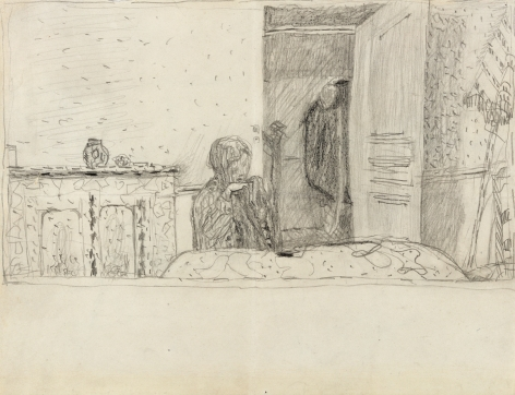 "Pierre Bonnard, Study for ""Salle à manger au parasol"" Verso: Four Sketches​, c. 1932"
