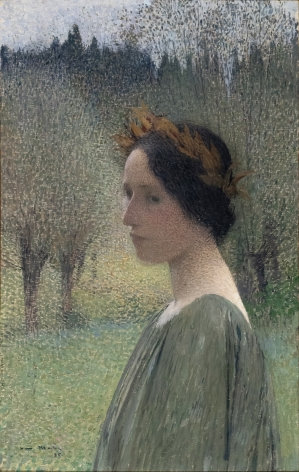 Henri Martin Portrait of a Woman, 1895     Oil on canvas 23 1/2 x 14 inches