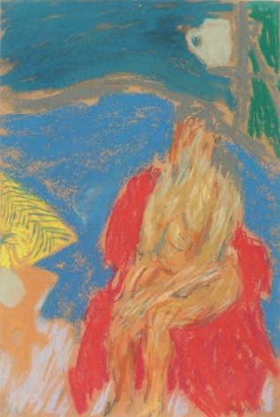 George Segal, Untitled (Woman on red chair), 1965    Pastel on paper 18 x 22 inches
