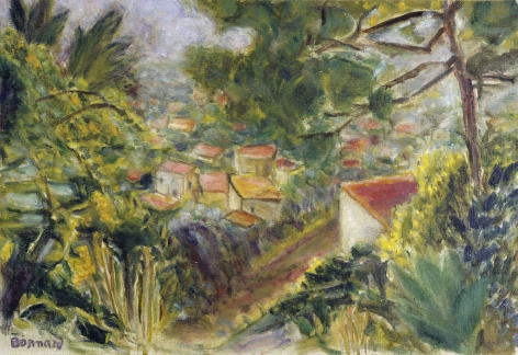 Pierre Bonnard (French, 1867-1947) Le Cannet, 1941    Oil on canvas 14 1/8 x 20 1/2 in. (36 x 52 cm) Signed lower left