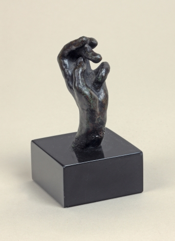 Auguste Rodin, Hand no. 20, petit modèle, Conceived 1890-1908, this cast 1945 Alexis Rudier Bronze 2 1/8 x 3/4 x 1 1/8 inches
