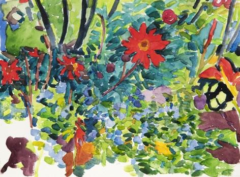 Pamela Sztybel (American, b. 1956) Flowers 5, 2020    Watercolor on paper 9 x 12 in. (22.9 x 30.5 cm)