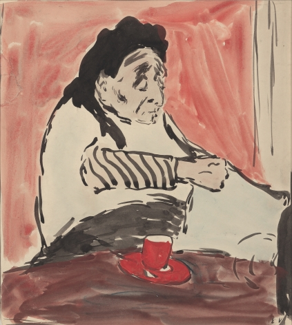 Edouard Vuillard  The Artist's Grandmother, 10 rue Miromesnil, 1887-91  Watercolor on paper 7 1/8 × 6¼ inches