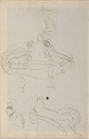Auguste Rodin, Drawings inspired by The Tombs of the Medici by Michelangelo