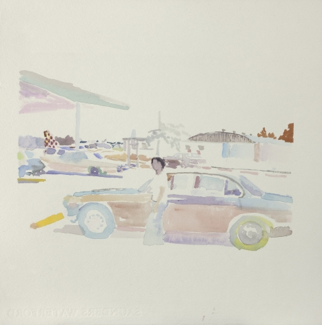 Wendy Mark, Airport, 2011  Watercolor  12 ¼ × 12 inches