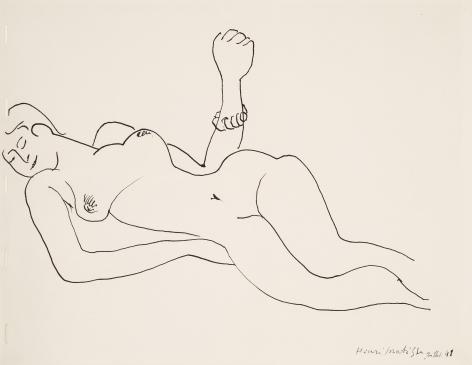 Henri Matisse  Nu, 1941     India ink on wove paper 7 7/8 x 10 3/8 in. (20.2 x 26.5 cm)