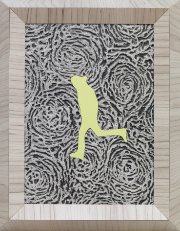 Richard Artschwager    Running Man (small lime left), 2013    Laminate and acrylic on Celotex in artist's frame 11 5/8 x 9 3/16 x 3 inches