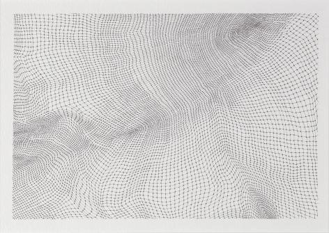 Jacob El Hanani Dot Gauze, 2005 Ink on paper 9 x 12 inches