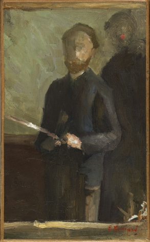"""Study for """"Self-portrait with Waroquy,"""" 1889,"""