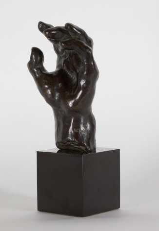 Auguste Rodin, Main no. 39 Conceived c. 1885-1900; this version cast in 1975 Bronze with brown patina 5 1/4 inches
