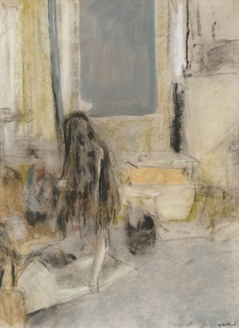 Edouard Vuillard, The Model with Long Hair, c. 1908, Pastel and distemper on paper 24 3/8 x 18 1/2 inches