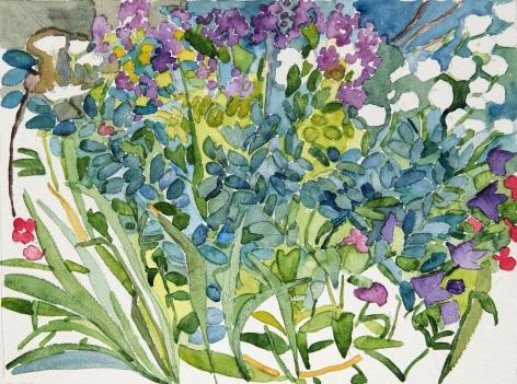 Pamela Sztybel (American, b. 1956) Flowers 6, 2020    Watercolor on paper 12 1/4 x 16 3/16 in. (31.1 x 41.1 cm)