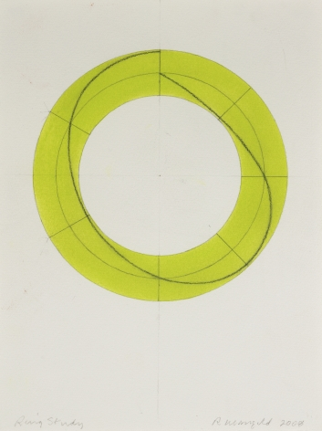 Robert Mangold Ring Study, 2008 Watercolor and pencil on paper 12 1/4 x 9 inches