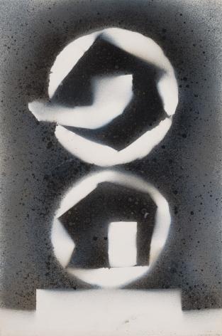 David Smith, Untitled, 1962-63, Spray enamel on paper, 17 1/8  x 11 1/4 inches