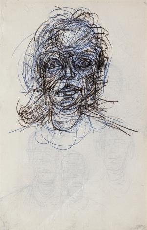 Tete de femme (RECTO) / 4 visages (verso),c. 1962,